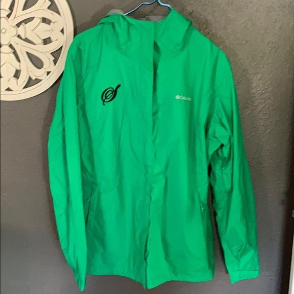 Columbia Jackets & Blazers - Columbia green rain coat jacket monogrammed S